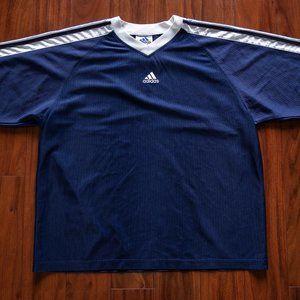 Vintage 90s Adidas Longsleeve Soccer Jersey Top